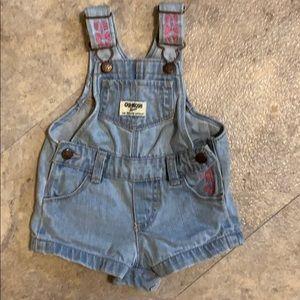 Infant girls shorts overalls